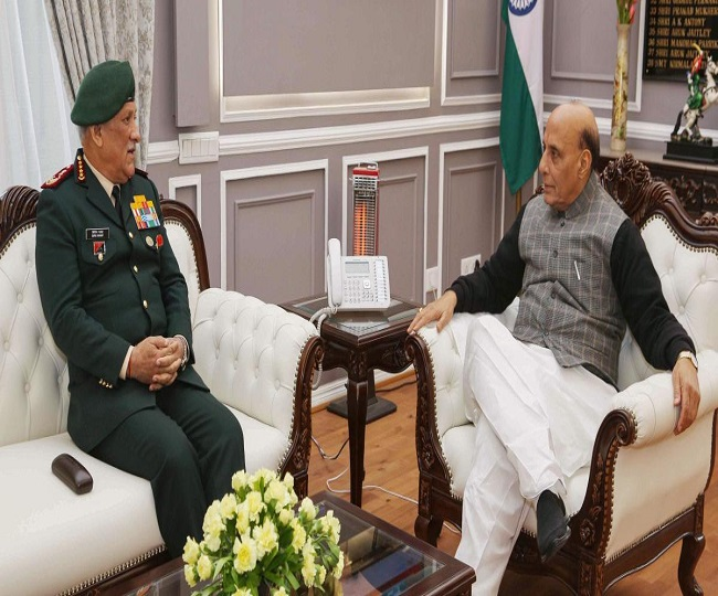 Ladakh Standoff: Rajnath Singh holds meet with CDS Gen Rawat, three service chiefs, discusses situation along LAC