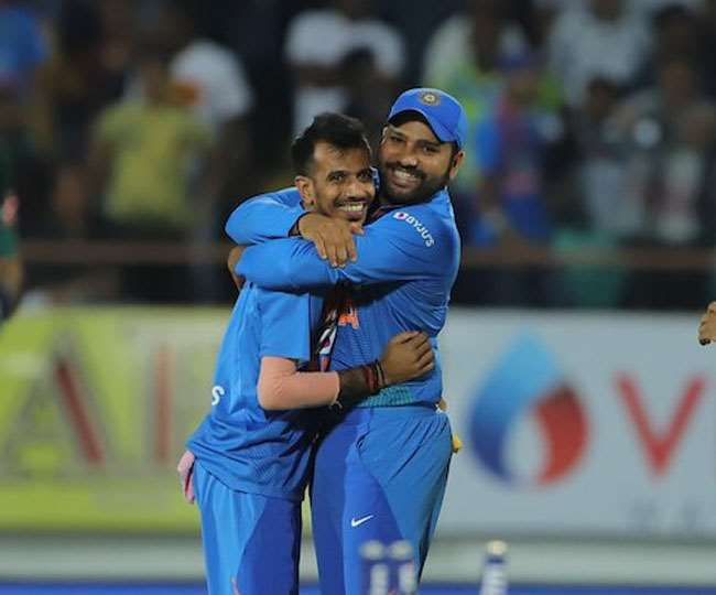 'So cute u looking': Yuzvendra Chahal's little gender-swap goof up with Rohit Sharma's picture leaves netizens in splits
