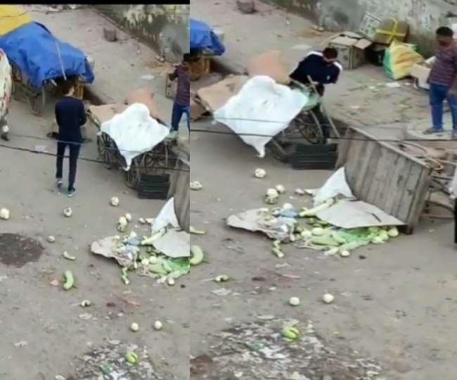 Delhi Police cop suspended for allegedly vandalising vegetable carts amid coronavirus lockdown