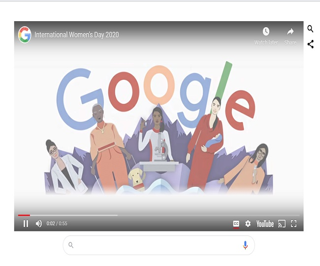 IWD2020: Google dedicates doodle to fight for women's rights