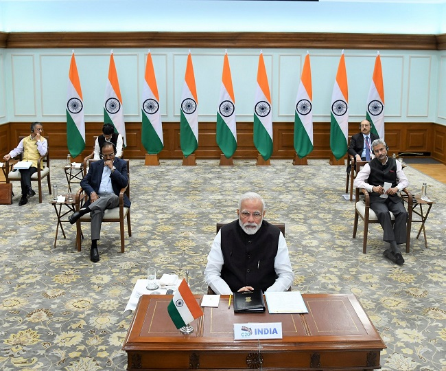 Coronavirus Pandemic   PM Modi pitches for new crisis management protocol as G-20 plans to donate USD 5 trillion into global economy