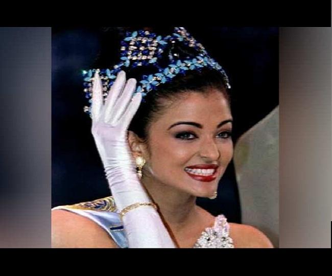 Aishwarya Rai having meal wearing Miss World crown and ...