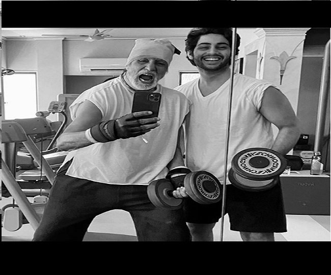 Amitabh Bachchan's fetish for exercise finds motivation from grandson Agastya Nanda | See Pics