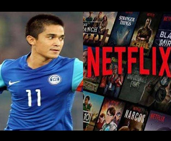 This chill between Netflix and Sunil Chhetri is all you need to go through to counter your Monday blues