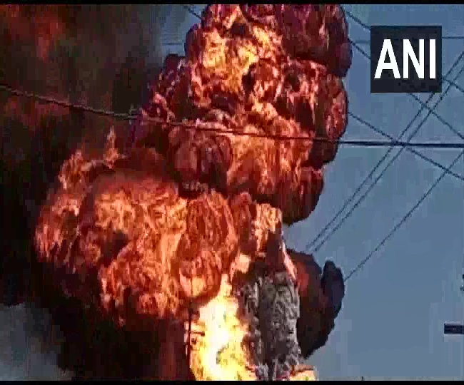 Major fire breaks out at chemical godown in Thane's Bhiwandi, six fire tenders at the spot