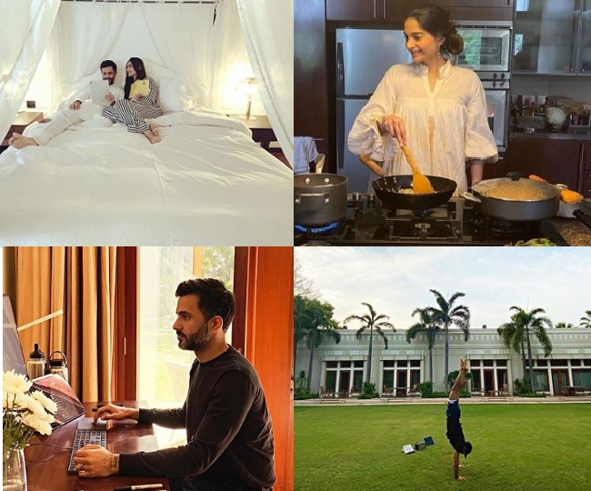 In Pics: Sonam Kapoor's gorgeously grand quarantine with husband Anand in lavish Delhi mansion