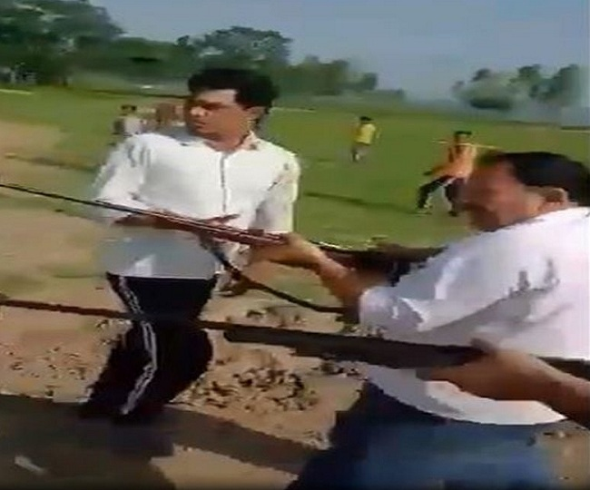 Caught on Camera: Samajwadi Party leader, son shot dead in UP's Sambhal district