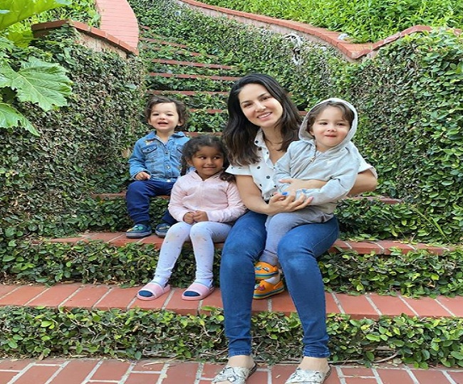 Sunny Leone flies to L.A with husband and kids amid coronavirus lockdown to 'quarantine in her secret garden'