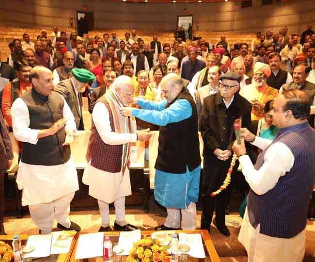भाजपा संसदीय दल की बैठक में जीत का जिक्र कर भावुक हुए पीएम मोदी