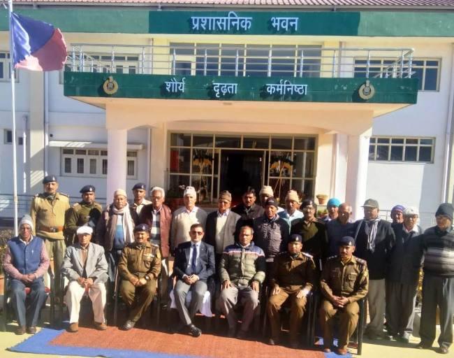 आइटीबीपी के पूर्व सैनिकों को दी गई योजनाओं ने की जानकारी
