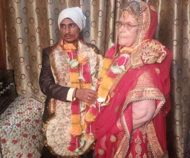 65 साल की अमेरिकी महिला का हरियाणवी गबरू पर आया दिल, कैथल आकर रचाई शादी