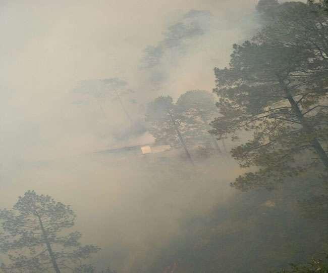 मां वैष्णो देवी के त्रिकुटा पर्वत के जंगलों में भीषण आग