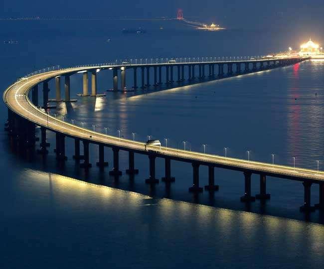 चीन-हांगकांग के बीच विश्व का सबसे लंबा समुद्री पुल तैयार, ये हैं दुनिया के लंबे समुद्री पुल