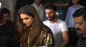 देखिए, रणवीर और दीपिका ने एक साथ की पार्टी