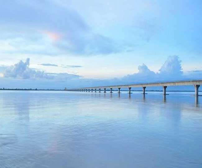 The country longest bridge on the Brahmaputra river is ready