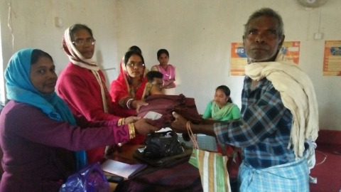 Blanket distributed between poors of bano for Bano jharkhand