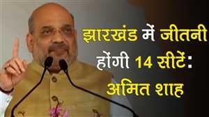 अमित शाह ने झारखंड में नेताओं को 14 सीटें जीतने का दिया लक्ष्य