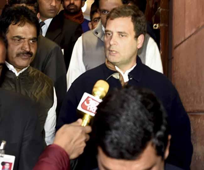 Rahul Gandhi in Parliament