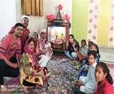 नवरात्रः अष्टमी पर घर की चारदीवारी में किया कंजक पूजन, ऑनलाइन भी की गई पूजा
