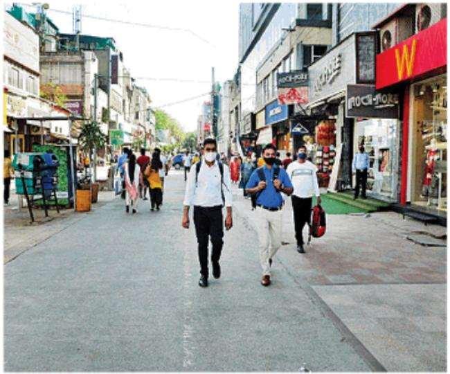 करोलबाग का अजमल खां रोड, नगर निगम ने एक बार फिर मोटर वाहन मुक्त घोषित किया है। ध्रुव कुमार