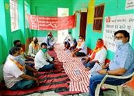 पंचायत में व्याप्त अनियमितता के विरोध में भूख हड़ताल