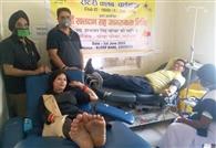 रोटरी क्लब के रक्तदान शिविर में 16 यूनिट रक्त संग्रह