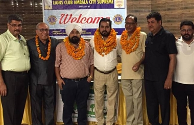 Rajan became the head of the city of Lions Club Ambala City