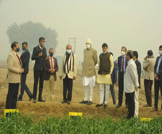 साल के पहले दिन केंद्रीय कृषि मंत्री पहुंचे भारतीय कृषि अनुसंधान संस्थान परिसर।