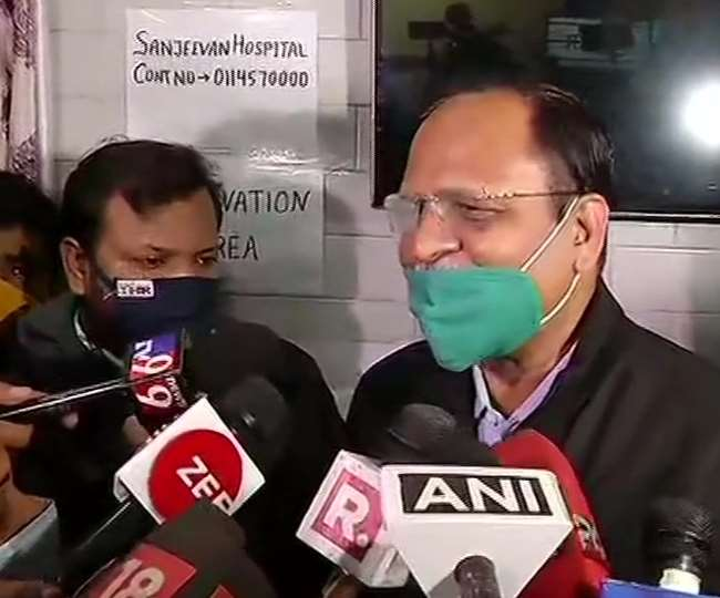 दिल्ली के स्वास्थ्य मंत्री सत्येंद्र जैन की फाइल फोटो।