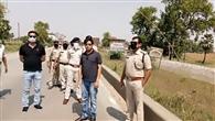 जिले की सीमा का अधिकारियों ने किया निरीक्षण