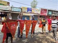 हर्षोल्लास के साथ मनाई गई रामनवमी, फहराए गए महावीरी पताके