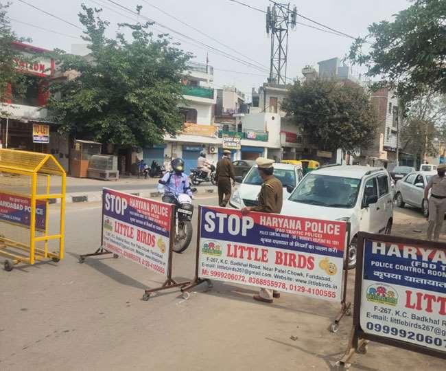 दिल्ली से सटे हरियाणा के कई जिलों में लगा संपूर्ण लॉकडाउन