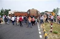 सड़क दुर्घटना में जख्मी की मौत पर हंगामा
