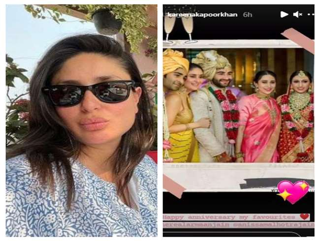 Kareena Kapoor Khan wishes cousin Armaan Jain for their first wedding anniversary. photo source instagram