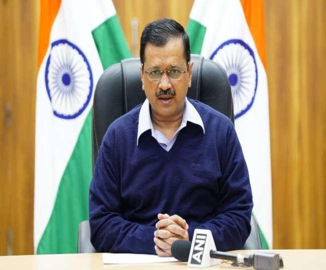 डिजिटल प्रेस कांफ्रेंस के दौरान दिल्ली के सीएम अरविंद केजरीवाल