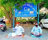 एयरपोर्ट के लिए अधिग्रहित जमीन लाैटाने की मांग, भाजपा नेता विनीत मोंगा धरने पर बैठे Ludhiana News