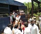 UP कांग्रेस अध्यक्ष की रिहाई को लेकर मथुरा में कांग्रेसियों का बवाल, नौ को भेजा जेल