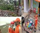 IN PICS Cyclone Nisarga: चक्रवाती तूफान की तेज हवाओं ने उड़ा दी छतें, घर में दुबके लोग