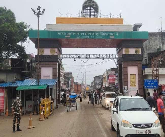 एसएसबी की अनुमति मिलने के बाद रविवार से नेपाल सीमा पर निजी वाहनों का आवागमन शुरू हो गया। - जागरण