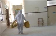 कोविड-19 अस्पताल में दिन भर चला सफाई का दौर