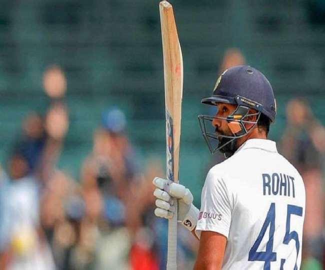 रोहित शर्मा ने विदेशी धरती पर पहला टेस्ट शतक लगाया (एपी फोटो)
