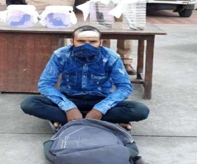 जींद पुलिस की गिरफ्त में चोरी का आरोपित।