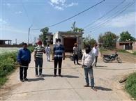 गांव सिधवां जमीता के लोगों ने प्रशासन का किया समर्थन, गांव सील