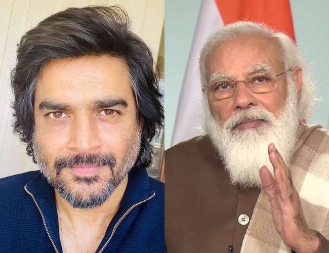 R Madhavan and PM Narendra Modi. Photo- Instagram, Jagran