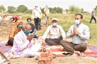 पर्यावरण दिवस पर नैथला हसनपुर में नए तालाब की खोदाई शुरू