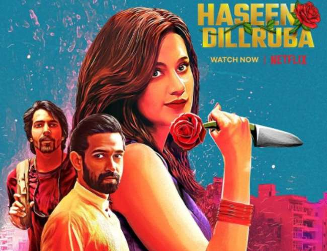 Netflix film Haseen Dillruba poster. Photo- Instagram