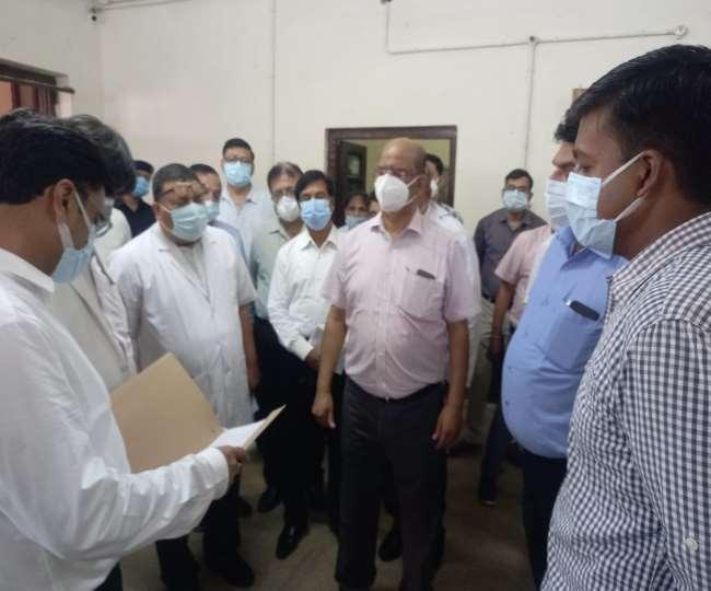 नोडल अधिकारी हेमंत राव ने एसएन का किया निरीक्षण