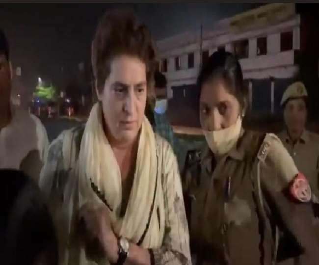 प्रियंका गांधी वाड्रा को कल सीतापुर से लिया गया था हिरासत में