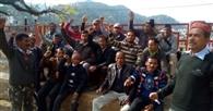 पांच सूत्रीय मांगों का निराकरण न होने से नाराज जलसंस्थान मजदूर संघ ने किया प्रदर्शन
