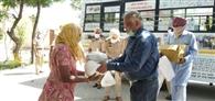 एसएसपी ने बांटा गांवों में राशन बंटवाया